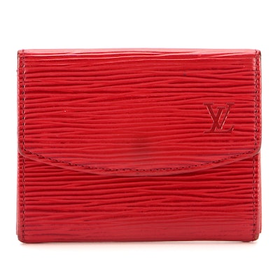 Louis Vuitton Red Epi Leather Coin Purse