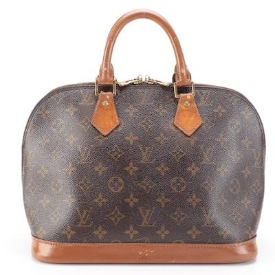Louis Vuitton Alma PM Handbag in Monogram Canvas