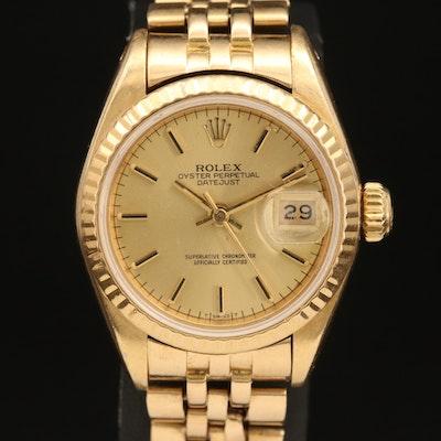 1983 Rolex Datejust 18K Gold Wristwatch