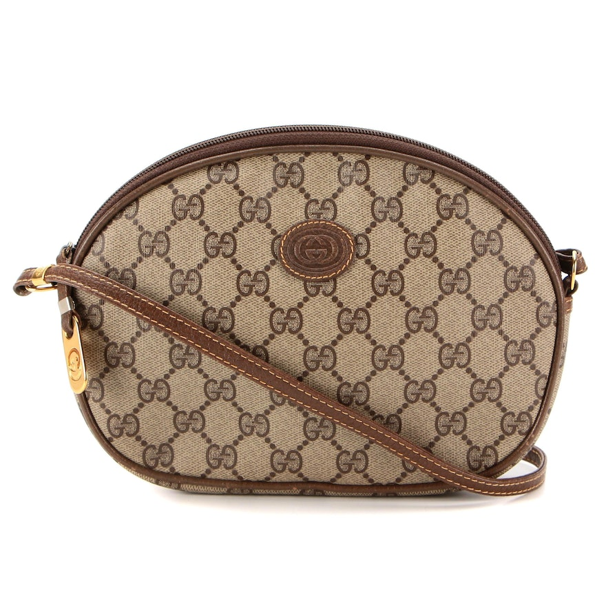 Gucci Small Crossbody in GG Supreme Canvas with Leather Trim