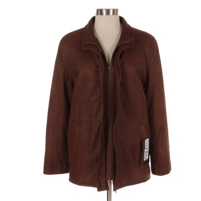 Lambskin Zip-Up Jacket by LaPaul Furs, New with Merchant Tag