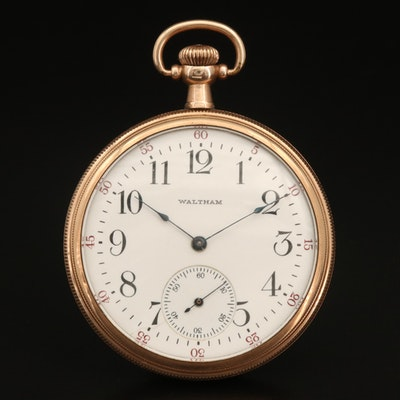 1917 Waltham Gold Filled Open Face Pocket Watch