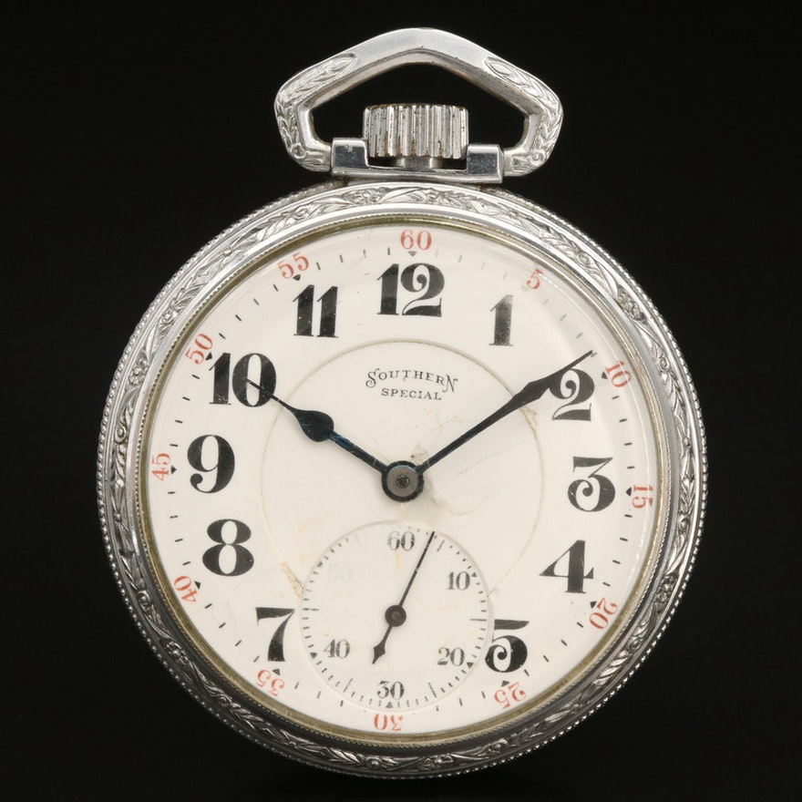1918 Illinois Southern Special Open Face Pocket Watch
