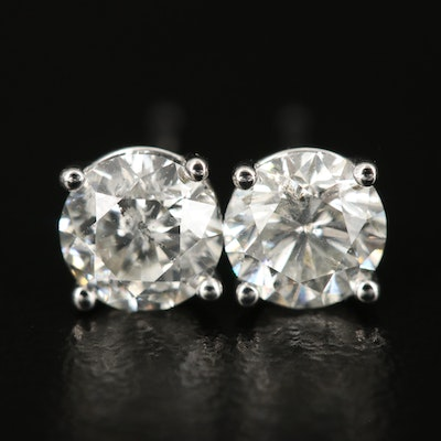 14K 1.38 CTW Diamond Earrings with GIA Dossier and eReport