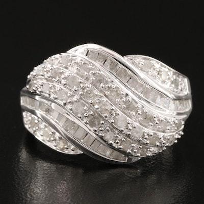 Sterling Silver 1.02 CTW Diamond
