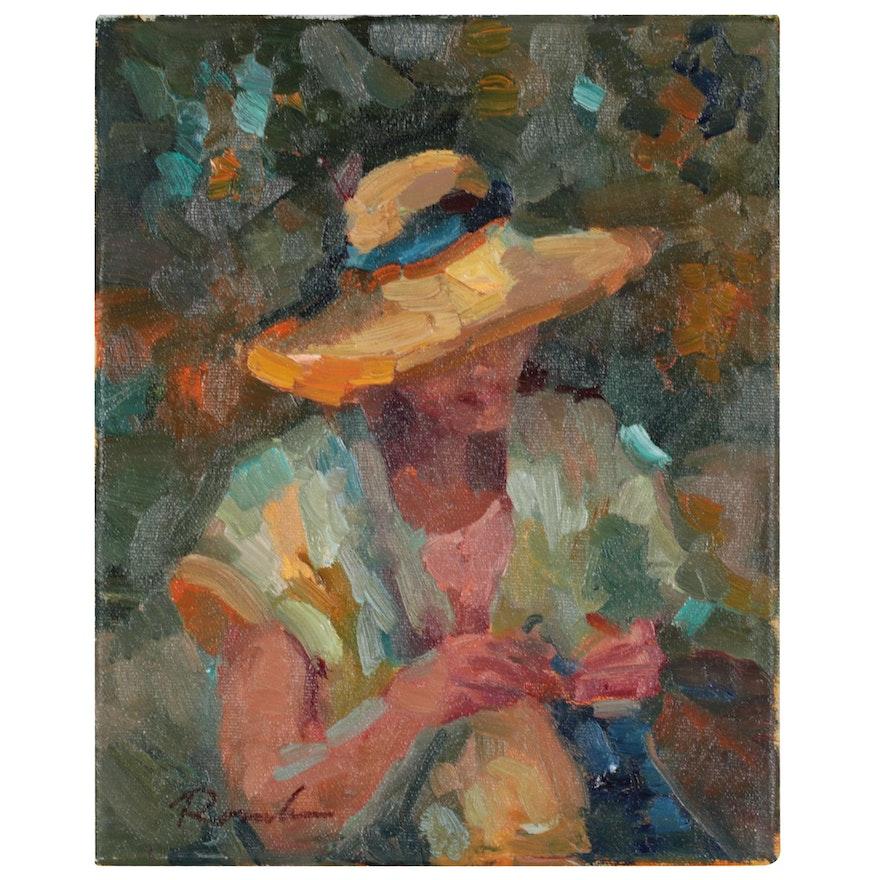 """Sally Rosenbaum Oil Painting """"Kait One"""""""