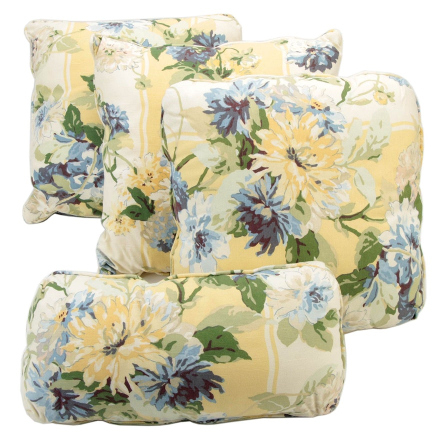 Floral Printed Cotton Accent Pillows