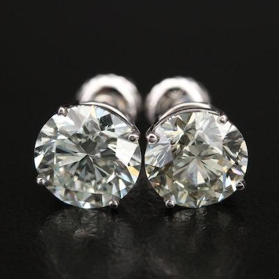 14K 3.73 CTW Diamond Stud Earrings