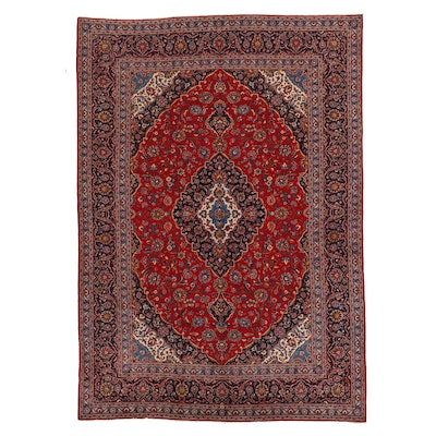 10' x 14' Hand-Knotted Persian Isfahan Room Sized Rug