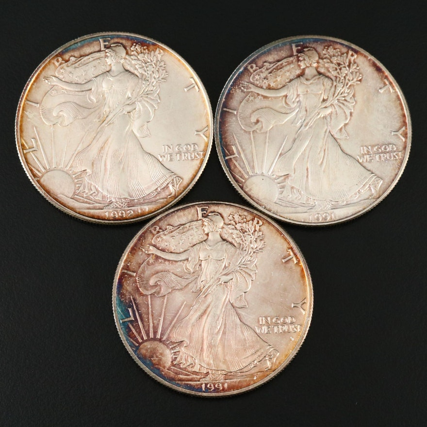 American Eagle Silver Bullion Coins, 1991 and 1992