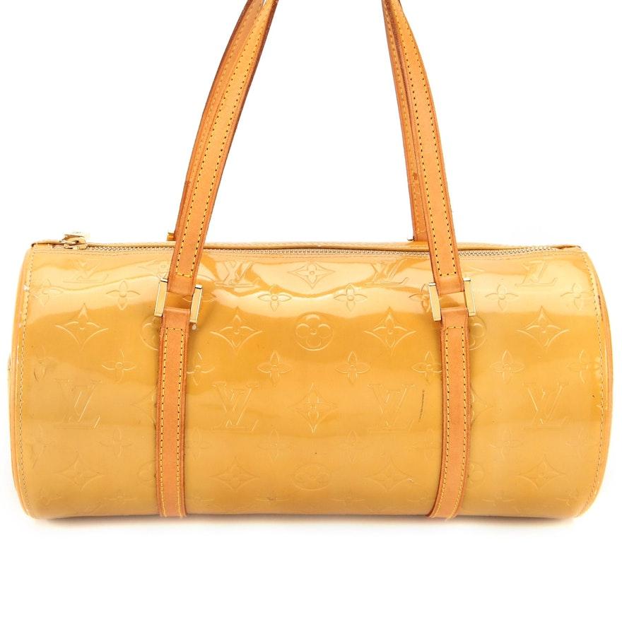 Louis Vuitton Bedford Handbag in Monogram Vernis and Vachetta Leather Trim