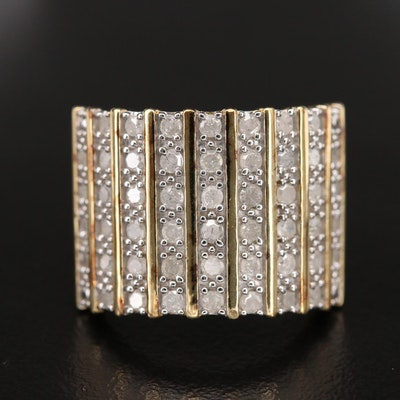 Sterling Diamond Tapered Band
