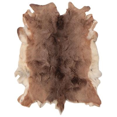 3'2 x 4'5 Natural Reindeer Hide Accent Rug