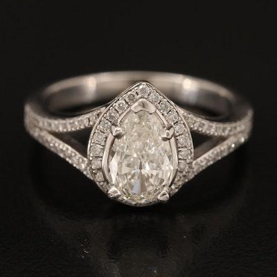14K 1.21 CTW Diamond Ring