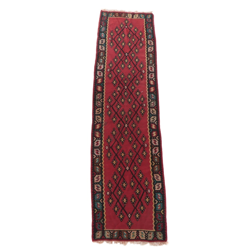 2'6 x 10'3 Handwoven Turkish Kilim Carpet Runner