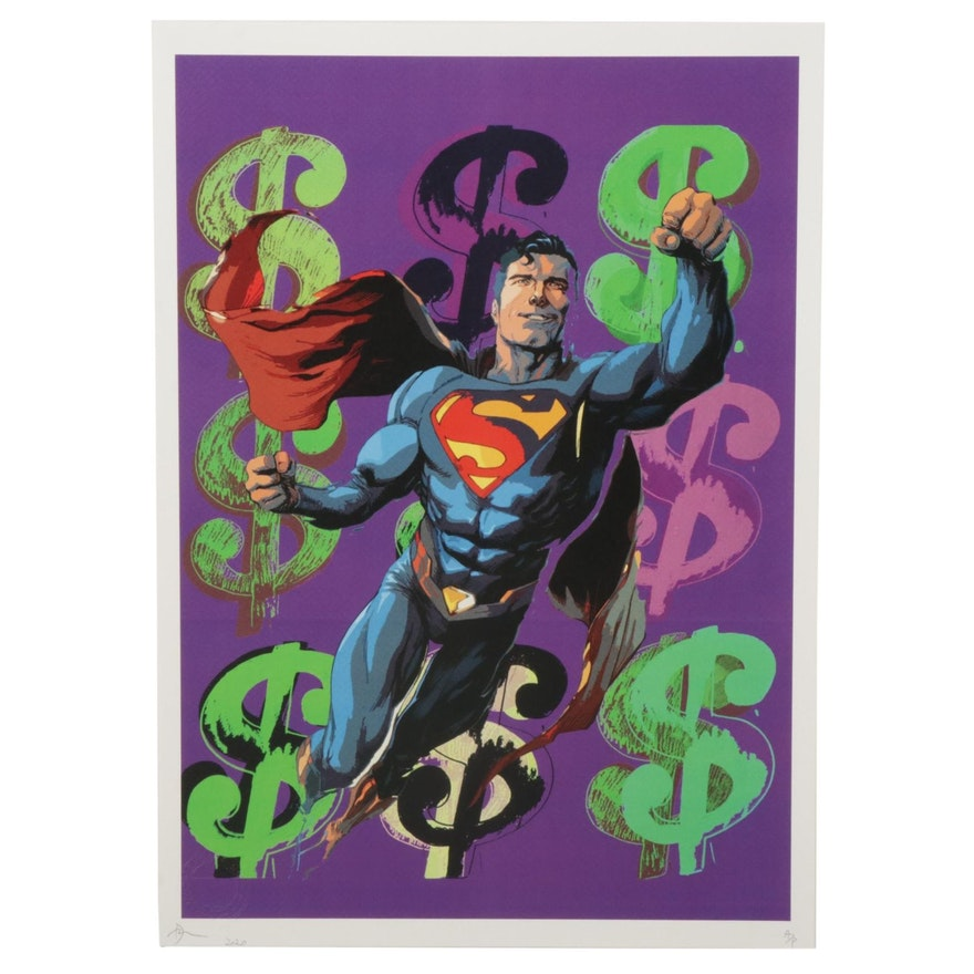 "Death NYC Superman Pop Art Graphic Print ""DEATHD72,"" 2020"