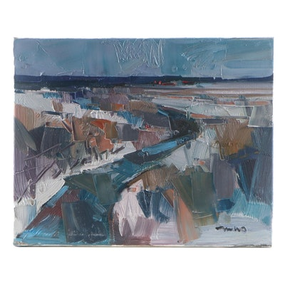 "Jose Trujillo Oil Painting ""Little River,"" 2021"
