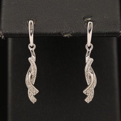 Sterling Diamond Pendulum Earrings