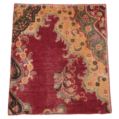 3' x 3'7 Hand-Knotted Persian Rug Remnant