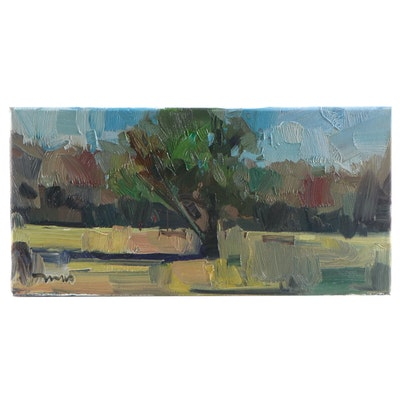 "Jose Trujillo Oil Painting ""Green Spring"""