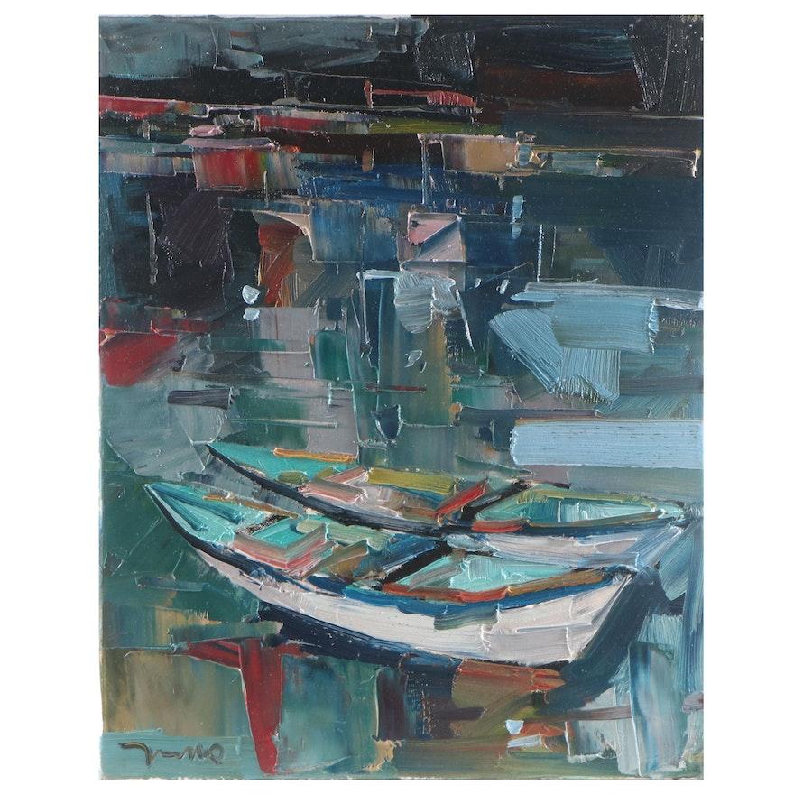 "Jose Trujillo Oil Painting ""Murky River"""