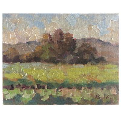 "Sally Rosenbaum Oil Painting ""Big Ranch Road"""