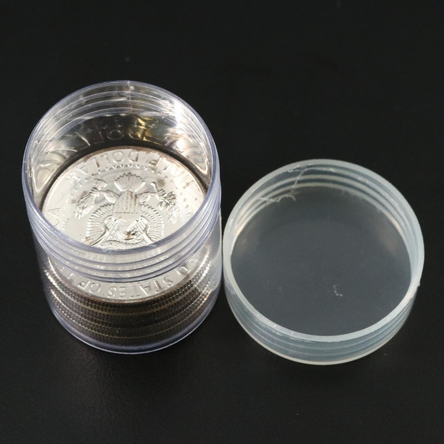 9 Proof Kennedy Silver Dollars, 1964