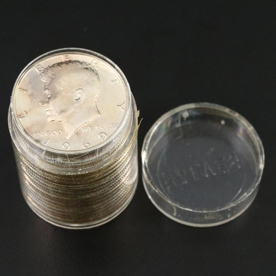 19 Uncirculated 1966 Kennedy Half Dollars and 1 Proof 1969 Half Dollar