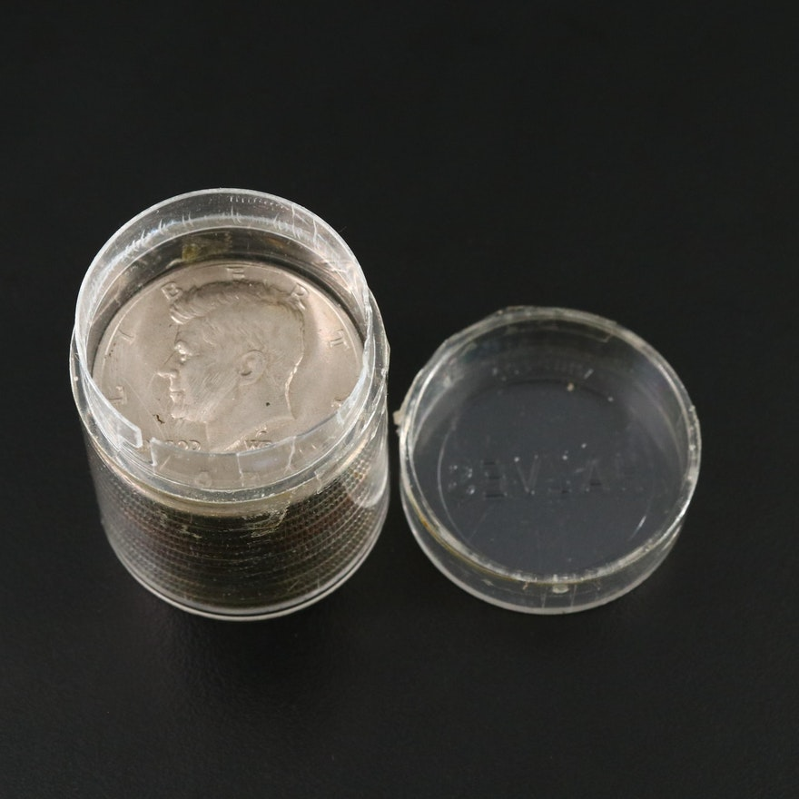 13 Silver Clad and Nickel Clad Kennedy Half Dollars, 1965–1976