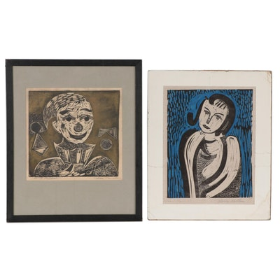 Henry Kallem Portrait Woodcuts, 1952