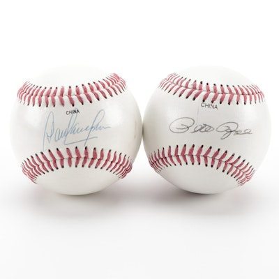 Dave Concepcion and Pete Rose Signed Rawlings Official Baseballs, COAs