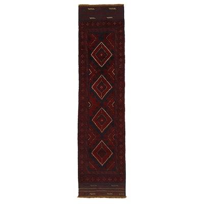 2'1 x 8'11 Handwoven Afghan Turkmen Mixed Technique Carpet Runner