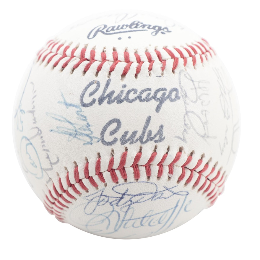 1984 Chicago Cubs Signed Rawlings Team Baseball