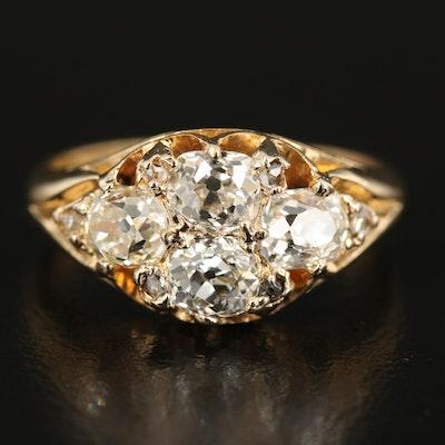 Victorian 18K Diamond Ring