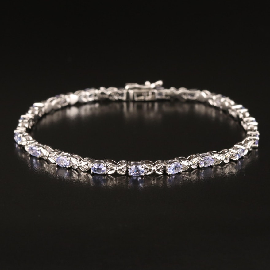 Sterling Tanzanite Bracelet