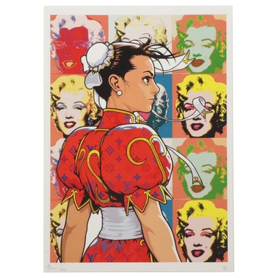 "Death NYC Pop Art Graphic Print Featuring Chun-Li From ""Street Fighter"""