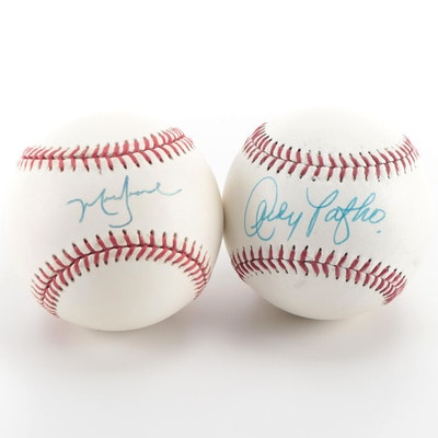 Andy Pafko and Mark Grace Signed Baseballs, COAs