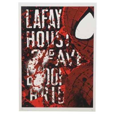 Death NYC Pop Art Graphic Print Featuring Spider-Man, 2020