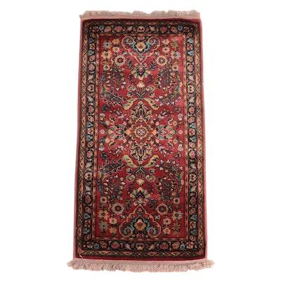 2'3 x 4'9 Machine Made Persian Sarouk Style Accent Rug