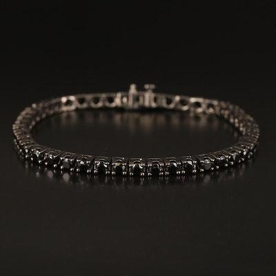 Sterling Spinel Line Bracelet