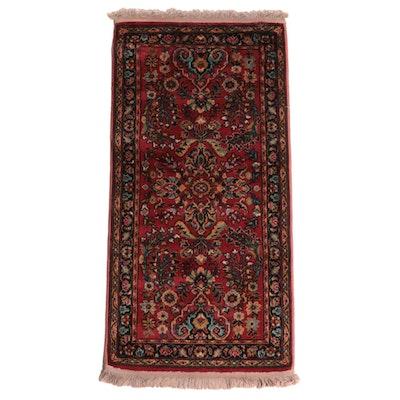 2'3 x 4'10 Machine Made Persian Sarouk Style Accent Rug