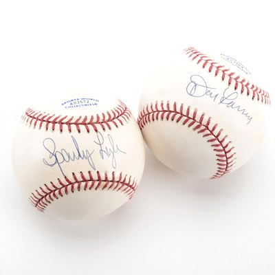 Sparky Lyle and Don Larsen Signed Rawlings American League Baseballs, COAs