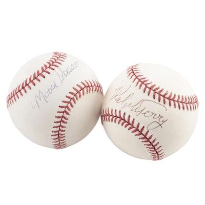 Bill Skowron and Ralph Terry Signed Rawlings Baseballs, COAs
