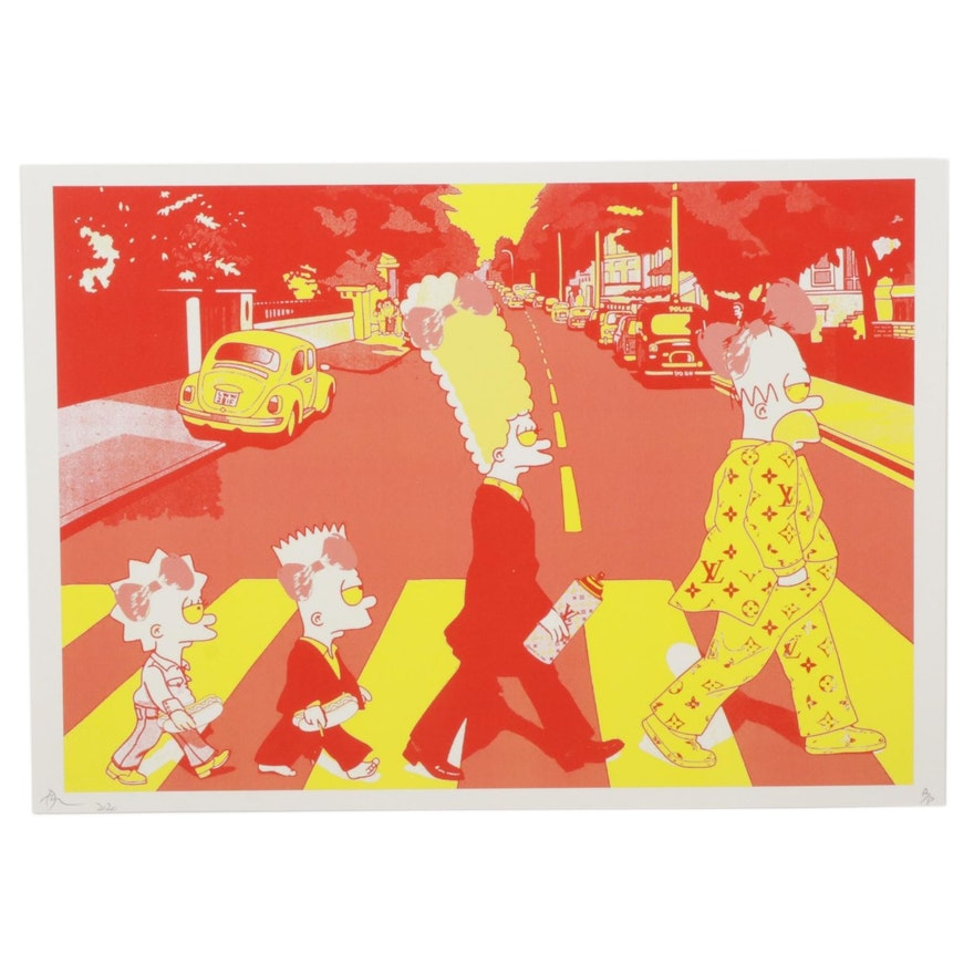 "Death NYC Pop Art Graphic Print ""Family Cross RY,"" 2020"