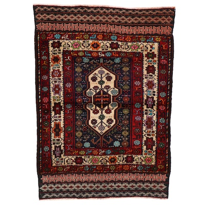 3'5 x 4'8 Hand-Knotted Caucasian Accent Rug