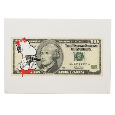 "Death NYC Pop Art Graphic Print ""Snoop Shoot $10,"" 2020"