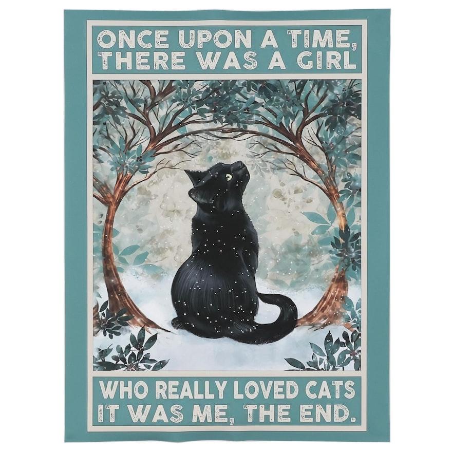 Giclée of Black Cat, 21st Century