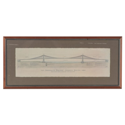 "Offset Lithograph after Craig Holmes ""The Brooklyn Bridge"""