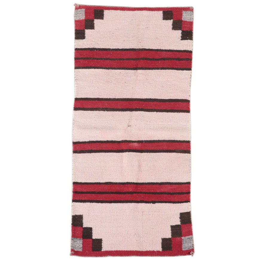 2'6 x 4'9 Handwoven Navajo Double Saddle Blanket Accent Rug