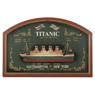 """Titanic: Ship Of Dreams"" Wood Wall Hanging"